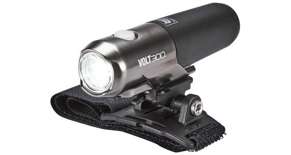 CatEye Volt300 HL-EL460 RC helmlamp zwart/zilver